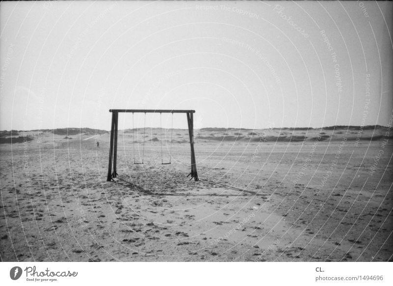 schaukel Freizeit & Hobby Spielen Ferien & Urlaub & Reisen Tourismus Ausflug Ferne Freiheit Sommer Sommerurlaub Strand Insel Umwelt Natur Landschaft Sand Himmel