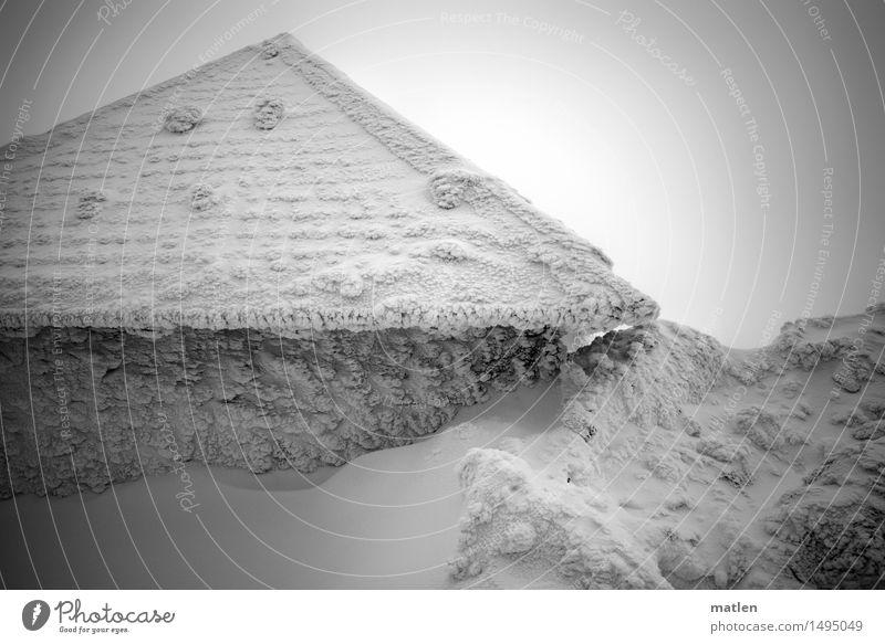 iglu Natur Urelemente Winter Wetter schlechtes Wetter Sturm Nebel Eis Frost Schnee Berge u. Gebirge frieren kalt schwarz weiß Haus Schneewehe reif revenant