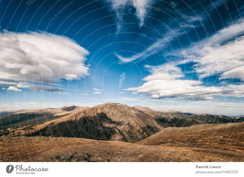 Hoch Ferien & Urlaub & Reisen Abenteuer Berge u. Gebirge Umwelt Natur Landschaft Himmel Wolken Klima Klimawandel Wetter Park Wald Felsen See Fernweh Einsamkeit