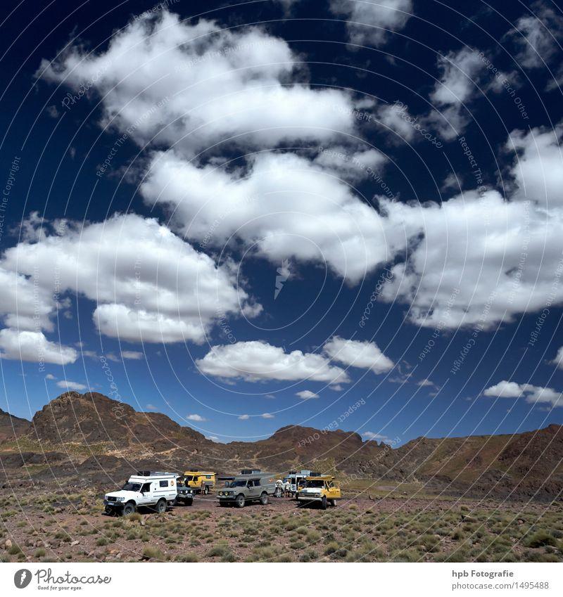 Im Atlas Himmel Natur Ferien & Urlaub & Reisen Sommer Sonne Landschaft Wolken Ferne Berge u. Gebirge Wege & Pfade Freiheit Tourismus Luft PKW Erde Ausflug