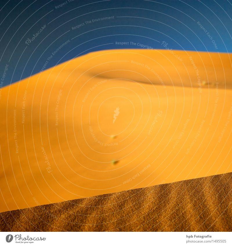 Sandabruchkante Natur Ferien & Urlaub & Reisen blau Sommer Sonne Landschaft Einsamkeit Ferne gelb Wärme Gefühle Freiheit braun Stimmung Tourismus