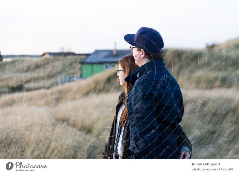 auf der Düne Ferien & Urlaub & Reisen Ferne Strand Meer Mensch maskulin feminin Junge Frau Jugendliche Junger Mann 2 18-30 Jahre Erwachsene Natur Sand Wasser