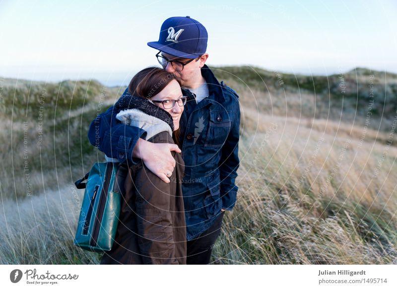Liebe auf der Düne Ferien & Urlaub & Reisen Ferne Strand Meer Mensch maskulin feminin Junge Frau Jugendliche Junger Mann 2 18-30 Jahre Erwachsene Natur Sand