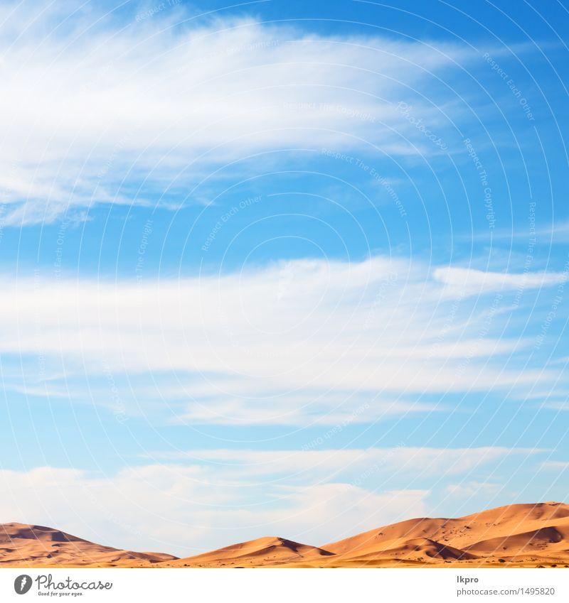 in der Sahara-Marokko-Wüste Natur Ferien & Urlaub & Reisen Sonne rot Landschaft Einsamkeit gelb Wärme Sand Abenteuer heiß Afrika Düne Dürre extrem heizen
