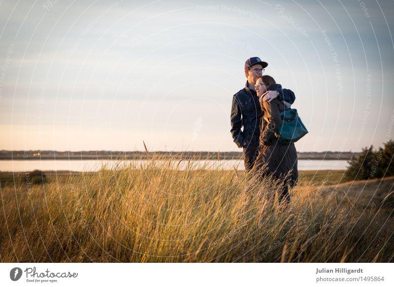 Genießen auf der Düne Ferien & Urlaub & Reisen Ferne Strand Meer Mensch maskulin feminin Junge Frau Jugendliche Junger Mann 2 18-30 Jahre Erwachsene Natur Sand