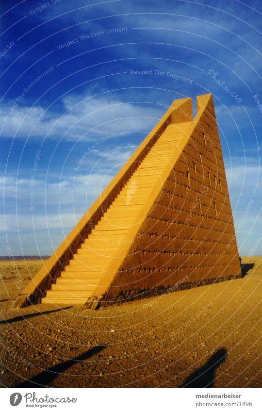 Himmelstreppe Architektur Wüste Afrika Marokko Sahara Land Art