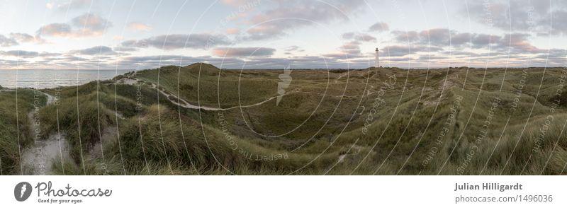 zwei welten Natur Nordsee Leuchtturm Meer Düne Ferien & Urlaub & Reisen Freiheit Ferne Zweifel Zukunft planen Wolken Himmel parorama Farbfoto Außenaufnahme