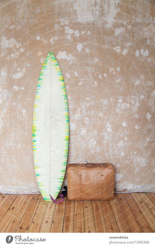Brett Freude sportlich Fitness Freizeit & Hobby Ferien & Urlaub & Reisen Tourismus Abenteuer Freiheit Sommer Sommerurlaub Wellen Wassersport Coolness Surfen