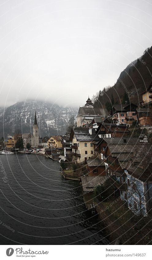 Winter Wolken Reisefotografie historisch Salzkammergut Hallstadt