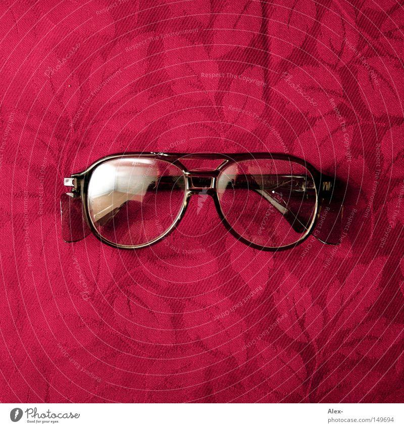 just a pair of goggles rot Blatt schwarz Glas Sicherheit Brille Schutz Stoff Handwerk Siebziger Jahre Pornobrille Schutzbrille