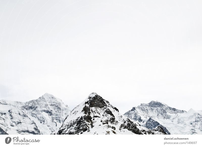 Grindelwald Himmel weiß Sonne Winter Berge u. Gebirge Schnee Hintergrundbild hell Wetter Eis wandern groß Gipfel Alpen Klettern Schweiz
