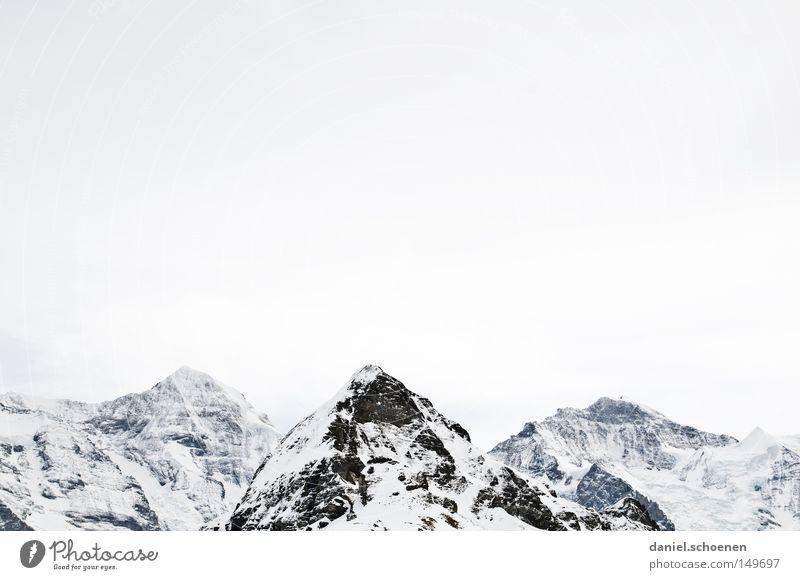 Grindelwald weiß hell Hintergrundbild Gipfel Gletscher Skitour Berge u. Gebirge Alpen Schnee Eis Wetter Meteorologie Bergsteigen Klettern Freeclimbing