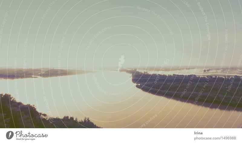 Sibirien, und Ob.. Natur Ferien & Urlaub & Reisen Sommer Wasser Erholung Landschaft ruhig Ferne Freiheit Horizont Freizeit & Hobby Beginn Abenteuer Urelemente
