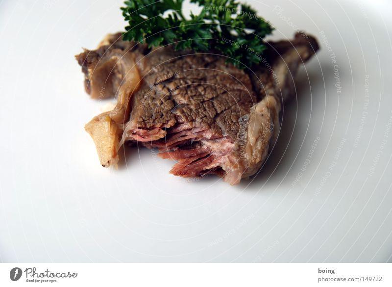 Fleisch Feste & Feiern rosa Kochen & Garen & Backen Küche genießen zart Gastronomie dünn lecker Teller Handwerker Fett Ernährung Rind Kräuter & Gewürze