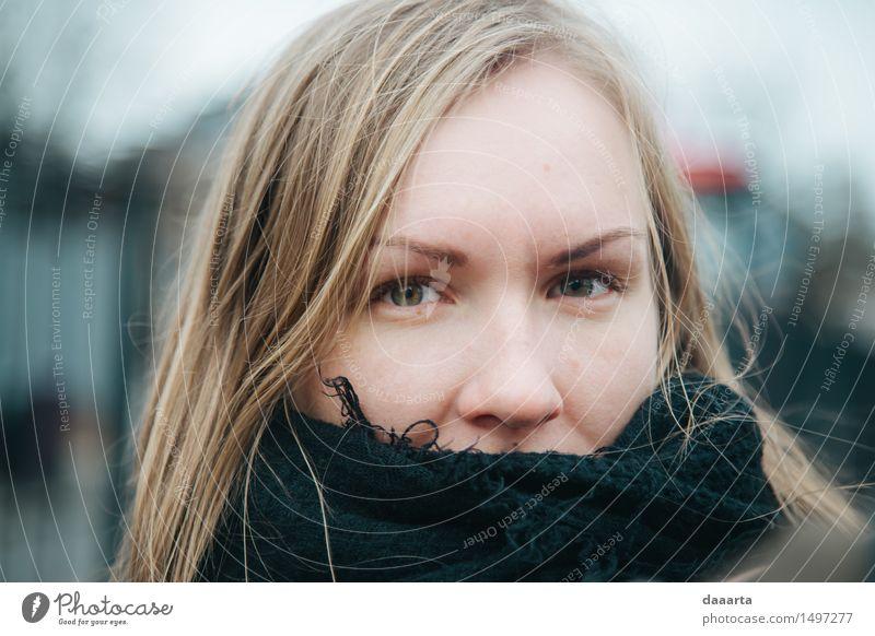 Augenkontakt London Ferien & Urlaub & Reisen Jugendliche schön Freude Winter 18-30 Jahre Erwachsene Wärme Leben natürlich feminin Stil Lifestyle Freiheit