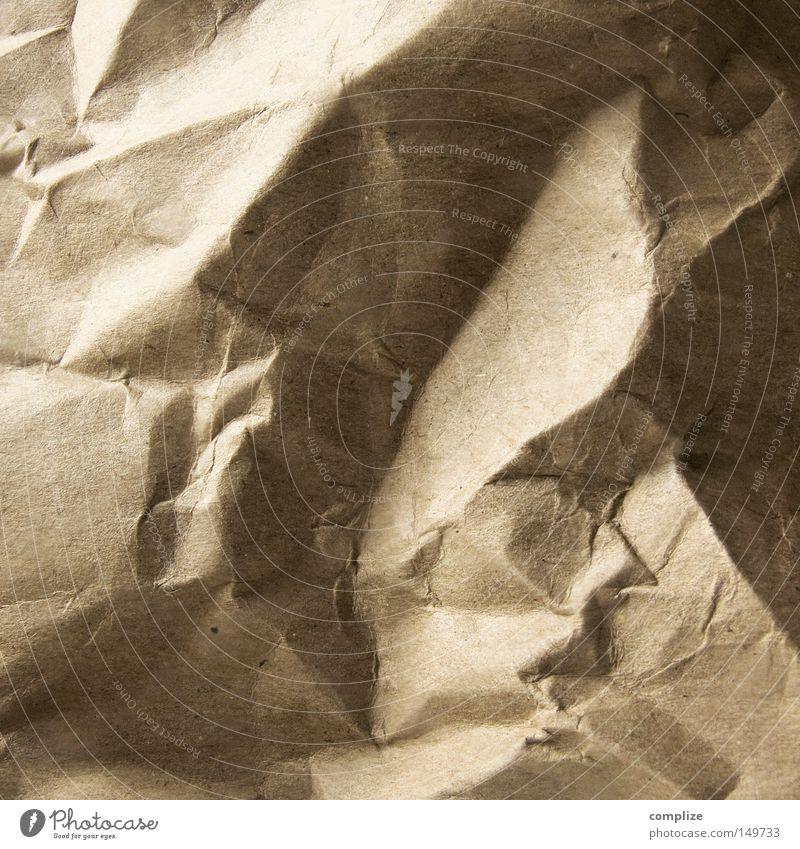 die ersten Falten Natur schön Berge u. Gebirge braun Hintergrundbild Papier Alpen Karton Schlucht beige Basteln Tal Phantasie Knick