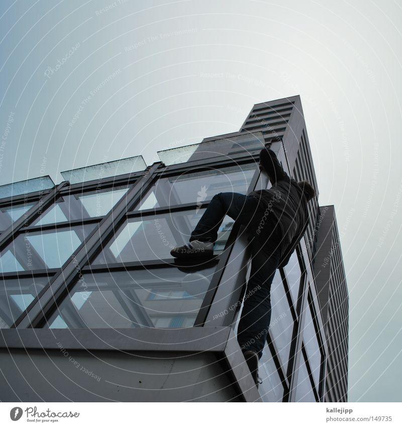 nordwand Mensch Mann Hand Haus Fenster Berge u. Gebirge Gefühle Berlin Architektur springen See Luft Linie Tanzen Glas fliegen