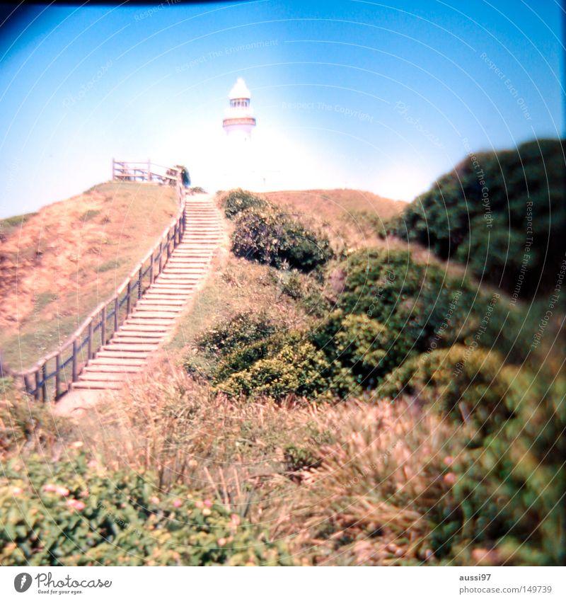 LEUCHTturm der lässigsten Stadt Australiens Leuchtturm Kap Wege & Pfade steil Leuchtfeuer Landzunge Schifffahrt Unschärfe Bucht