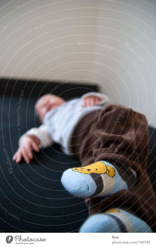 nachtaktiv Mensch Kind Hand weiß ruhig Gesicht Erholung grau Glück klein Beine Fuß braun Zufriedenheit Baby Wohnung