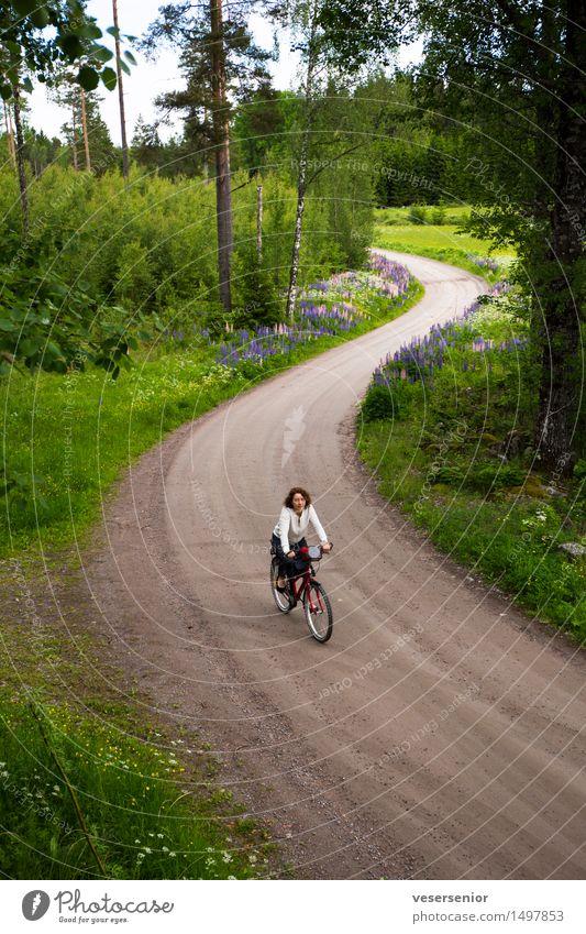 rita fährt heim Mensch Frau grün Sommer Erholung Landschaft ruhig Erwachsene Wege & Pfade Bewegung natürlich Gesundheit Zufriedenheit Freizeit & Hobby