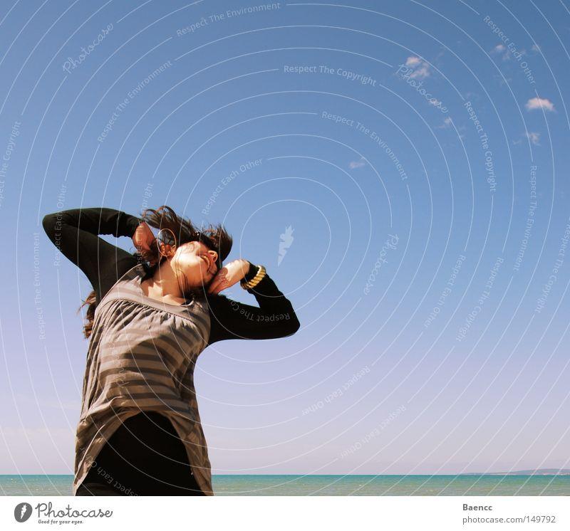 i SEA that you JUMP! Himmel Meer Erholung Wind Energiewirtschaft Lebensfreude Gefühle hüpfen