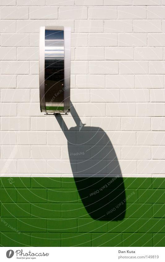 Schattenzeiten. weiß Wand Stein Mauer Metall glänzend Zeit Industrie Ecke offen Dekoration & Verzierung Teilung Seite Trennung Fuge