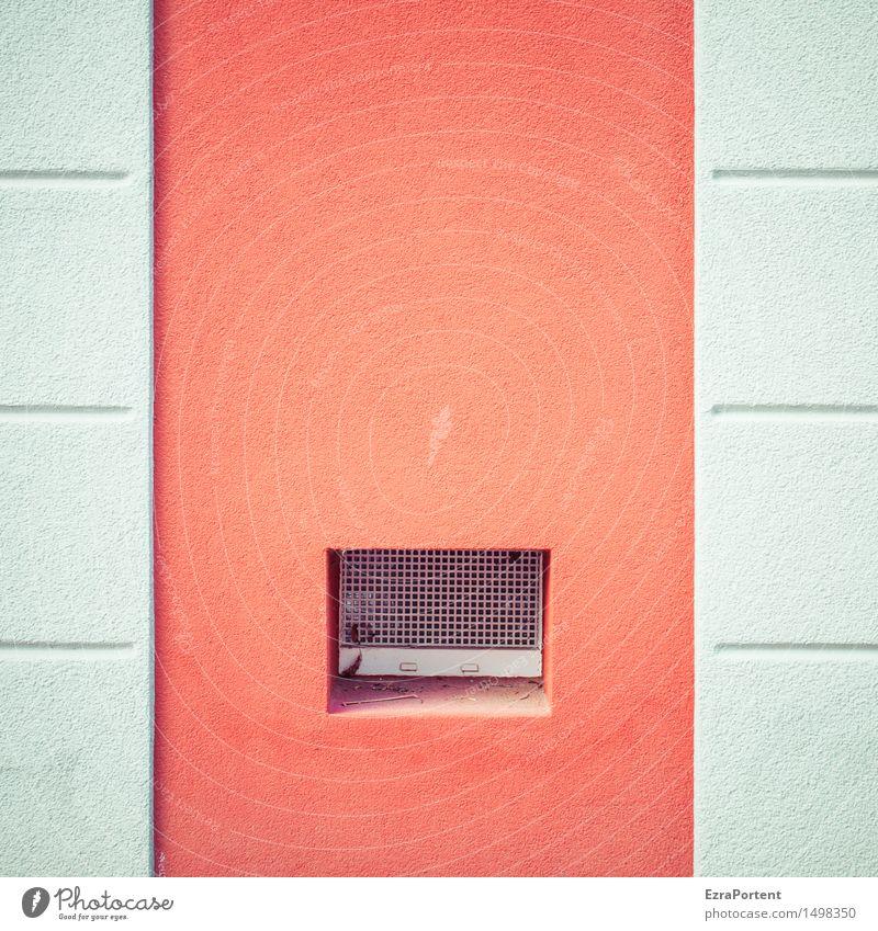 -|.|- Haus Bauwerk Gebäude Architektur Mauer Wand Fassade Fenster Stein Beton Linie Streifen rot weiß Design Farbe Loch Eingang Zugang Grafische Darstellung