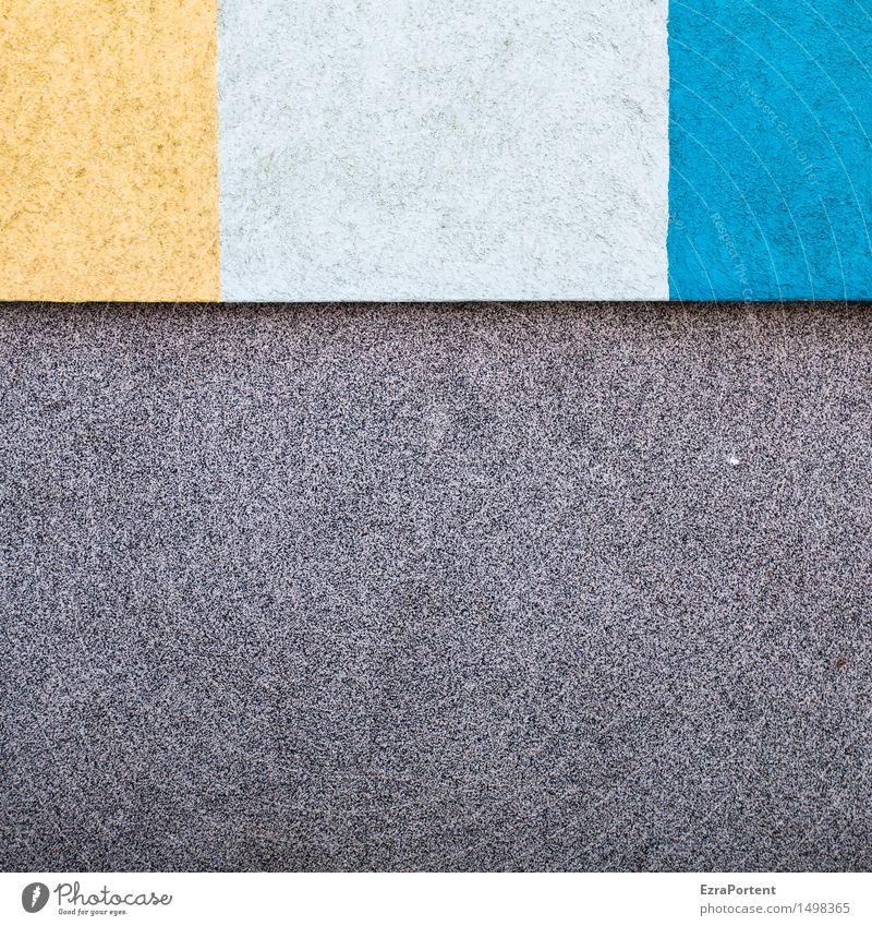 Sonne,Sonnenmilch,Meer und schwarzer Strand Haus Bauwerk Gebäude Architektur Mauer Wand Fassade Beton Linie Streifen blau gelb grau weiß Design Farbe