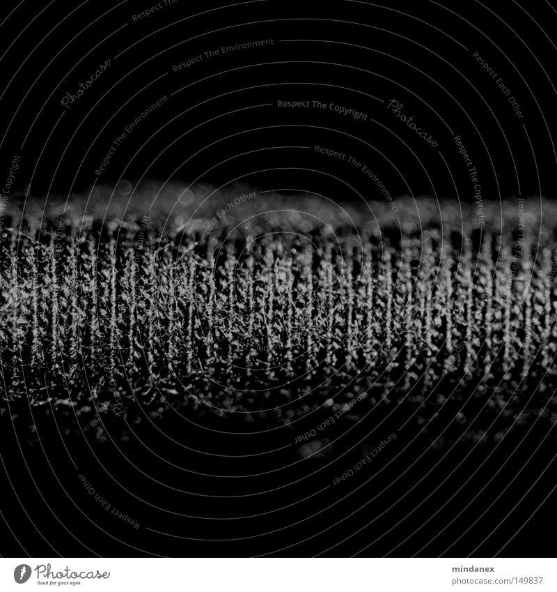 schwarzer Stoff Bekleidung Strickmuster Naht T-Shirt Kleid Kunst Kunsthandwerk Strukturen & Formen Nähgarn Detailaufnahme