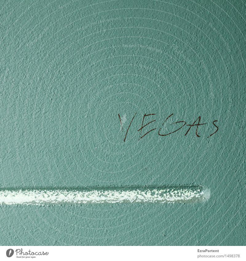 Las Ferien & Urlaub & Reisen Tourismus Städtereise Las Vegas Mauer Wand Fassade Beton Linie blau Design Glücksspiel Stadt Schriftzeichen Graffiti Buchstaben