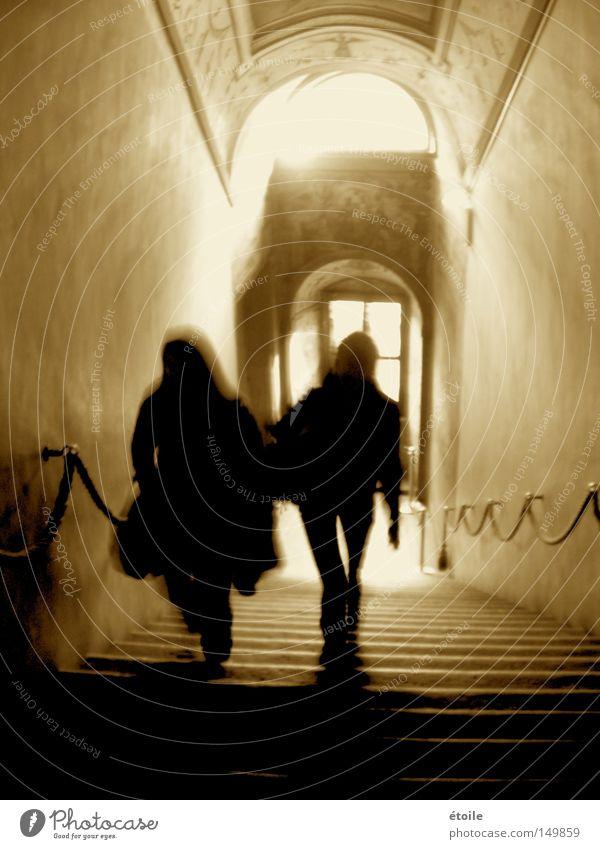 Treppensilhouetten. Silhouette Palazzo Vecchio aufsteigen Wege & Pfade Schatten Architektur Sepia