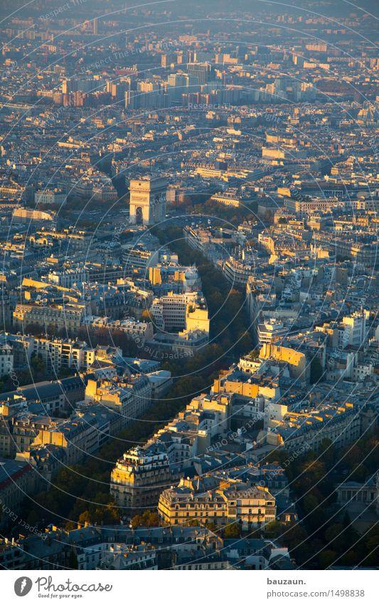 arc. Ferien & Urlaub & Reisen Tourismus Ausflug Sightseeing Städtereise Architektur Sonne Paris Frankreich Stadt Hauptstadt Stadtzentrum Altstadt Haus Bauwerk