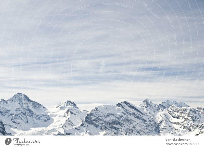 Grindelwald 2 Himmel weiß Winter Berge u. Gebirge Schnee Hintergrundbild hell Wetter Eis wandern groß Gipfel Alpen Klettern Schweiz Alpen