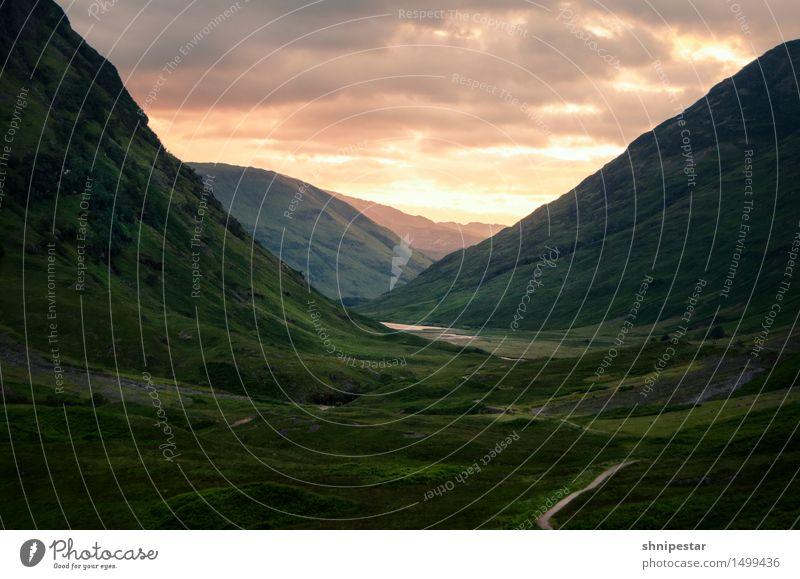 Glencoe, Scotland Himmel Natur Ferien & Urlaub & Reisen Sommer Erholung Landschaft ruhig Ferne Berge u. Gebirge Umwelt Leben Stimmung träumen Tourismus