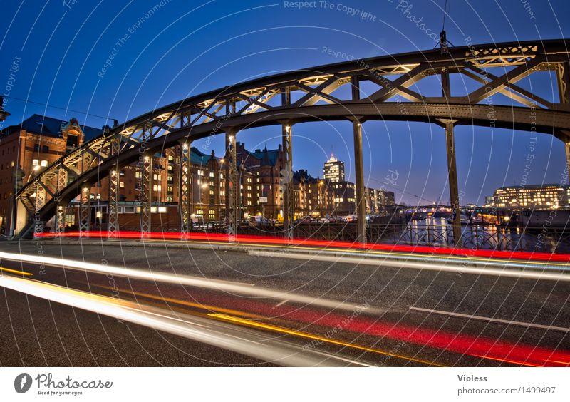 Zisssschh Alte Speicherstadt Hamburg Langzeitbelichtung Brücke Brooksbrücke Hammonia Zollkanal Brooksfleet Licht