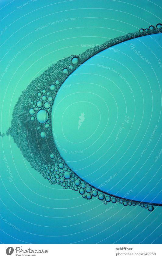 Bogenperlen II blau Ferne Hintergrundbild leuchten Tropfen türkis tief Flüssigkeit leicht Blase Alkohol Meerestiefe Schaum Farbenspiel Luftblase