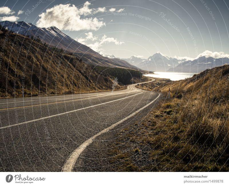 Road trip around New Zealand Umwelt Natur Landschaft Pflanze Tier Schönes Wetter Felsen Alpen Berge u. Gebirge See Verkehrswege Straße fahren gehen genießen