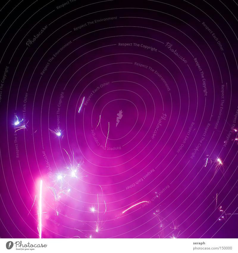 Celebration Himmel Lampe Party Luft hell Beleuchtung Feste & Feiern glänzend Stern Stern (Symbol) Silvester u. Neujahr Kitsch Freizeit & Hobby Show Feuerwerk