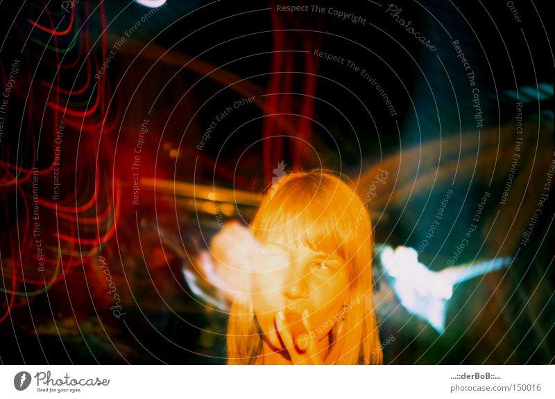 Das andere ICH Lomografie analog Filmmaterial gelb orange Verschmitzt Blitze Farbe mehrfarbig Licht Rauchen Zigarre Deutschland Erfolg lustig Glück Karneval