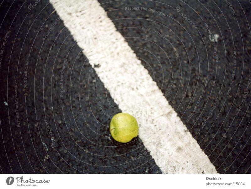 Apple grün Streifen Apfel diagonal Fahrbahn Makroaufnahme