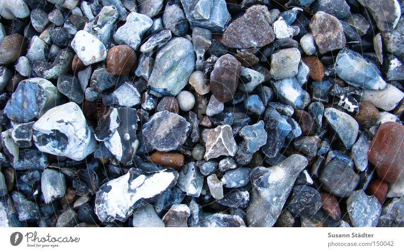 Bodenbelag schön Strand Winter kalt Küste Stein Erde Erde Bodenbelag rund fallen Ostsee Schmerz Sammlung Rügen eckig