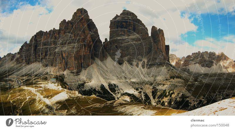 dolomiten drei zinnen Ferien & Urlaub & Reisen Berge u. Gebirge Italien Alpen Klettern Alm Dolomiten