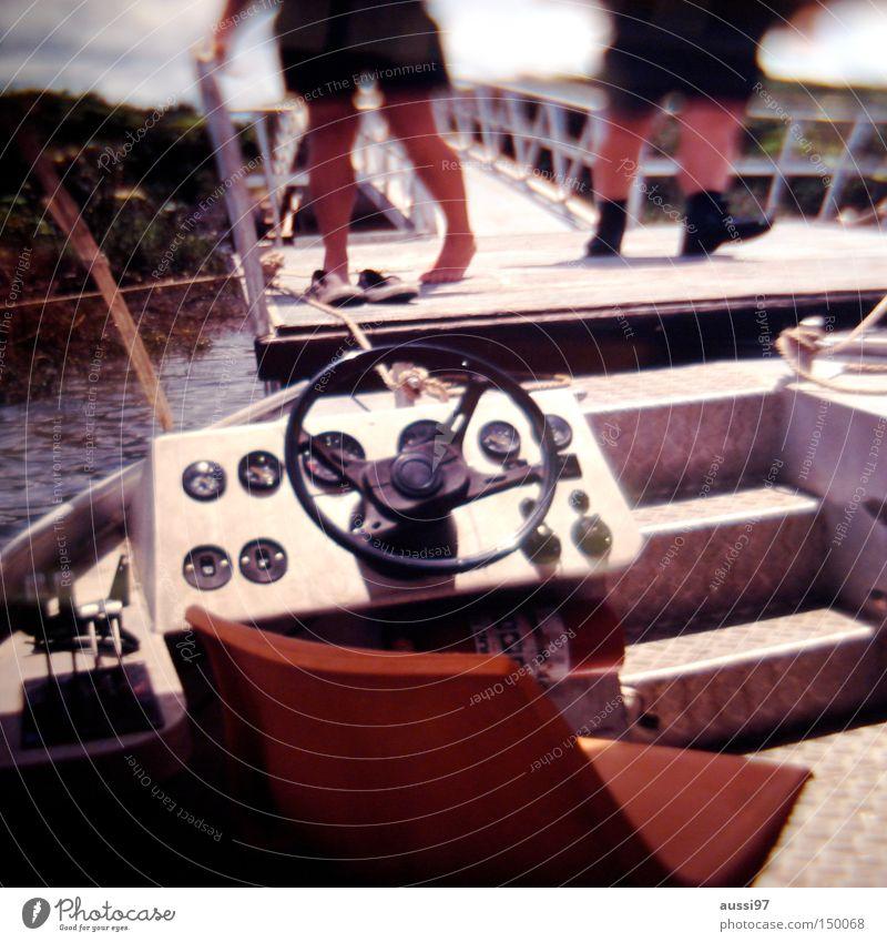 Porter Ricks Schifffahrt Seemann Kapitän Beruf Lenkrad Motorboot