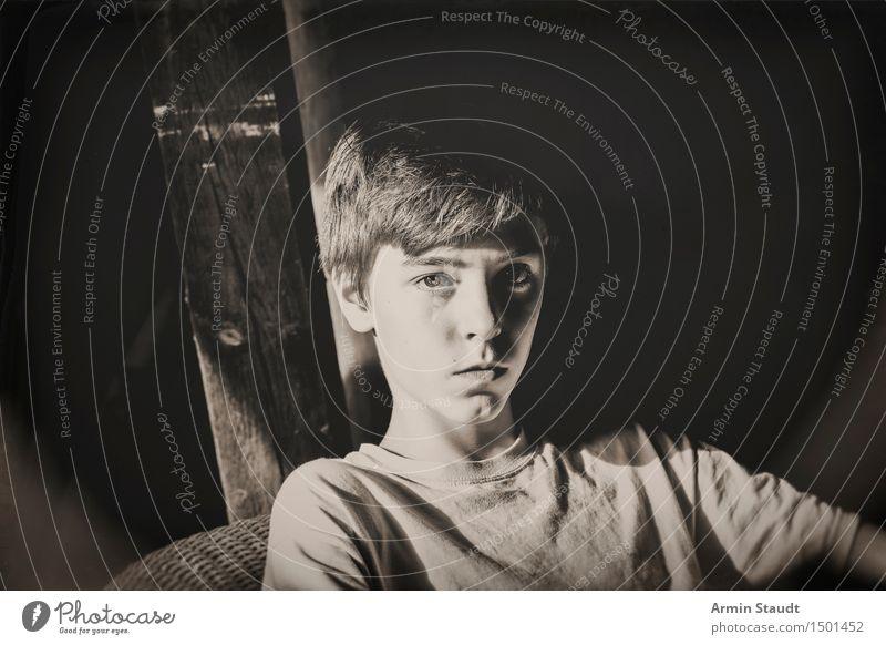 Country-Porträt IV Mensch Jugendliche schön Erholung Junger Mann ruhig Stil Lifestyle Denken Zeit Kopf Stimmung Design maskulin nachdenklich 13-18 Jahre