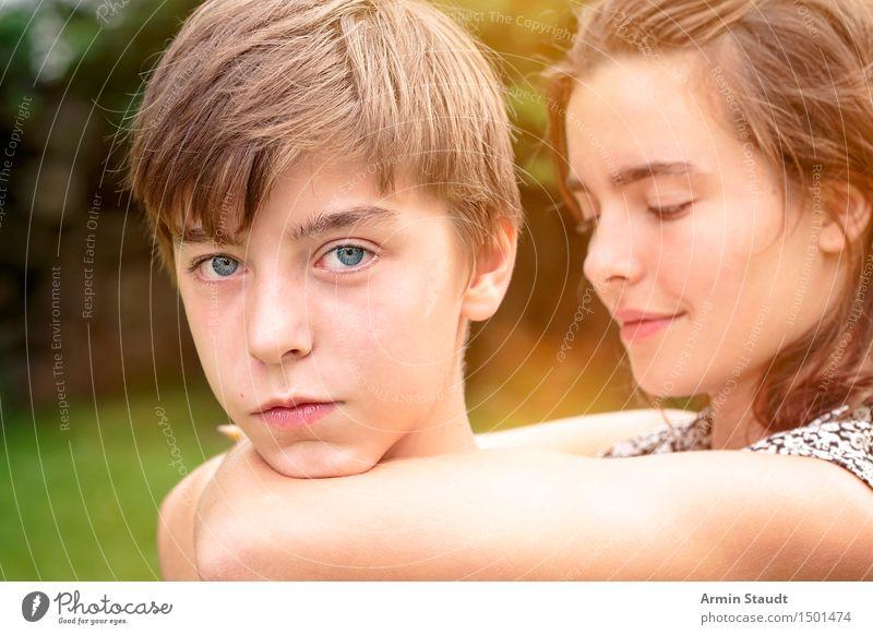 Gefangen Mensch Natur Ferien & Urlaub & Reisen Jugendliche schön Junge Frau Junger Mann Freude Leben feminin Familie & Verwandtschaft Glück Lifestyle Garten