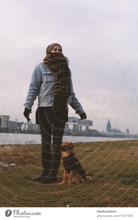 Come along Hund Natur kalt Umwelt natürlich Zusammensein Kraft authentisch Wind stehen warten niedlich Neugier Sicherheit nah Kontakt