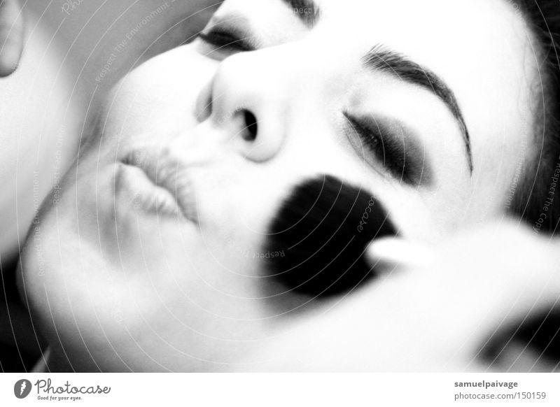 Frau Gesicht Kosmetik Mund Schminke