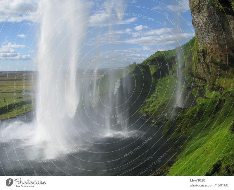 Der Seljalandsfoss - Wasserzauber in Südisland Natur Sommer Ferien & Urlaub & Reisen Fluss Island Bach Wasserfall Norden