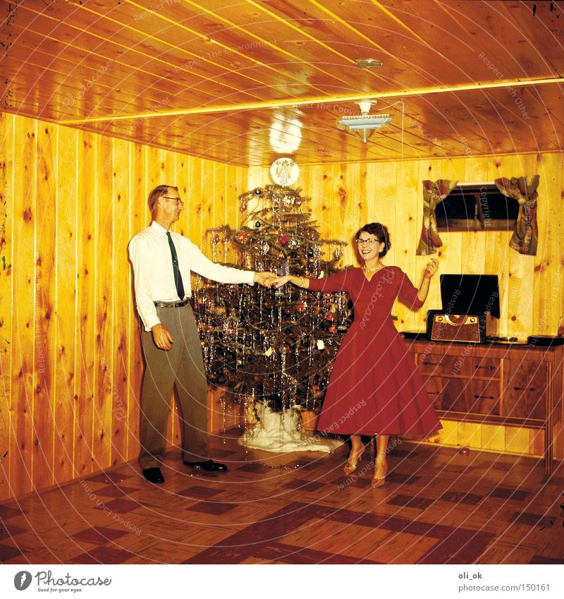 Christmas fun Weihnachten & Advent Feste & Feiern Freude Liebe Glück Paar Party Zusammensein Tanzen Weihnachtsdekoration Vertrauen Veranstaltung Verliebtheit