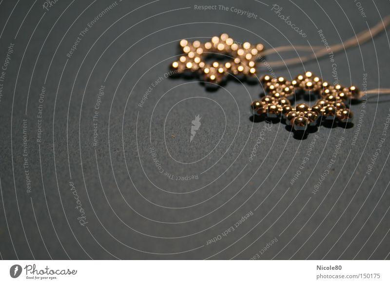x-mas deko light I Weihnachten & Advent glänzend Stern (Symbol) Dekoration & Verzierung Perle silber edel Basteln Schmuckanhänger Schlüsselanhänger